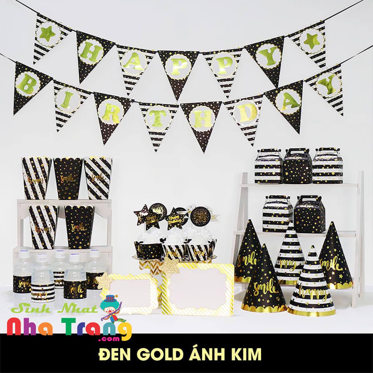 set phụ kiện trang trí sinh nhật thôi nôi Nha Trang