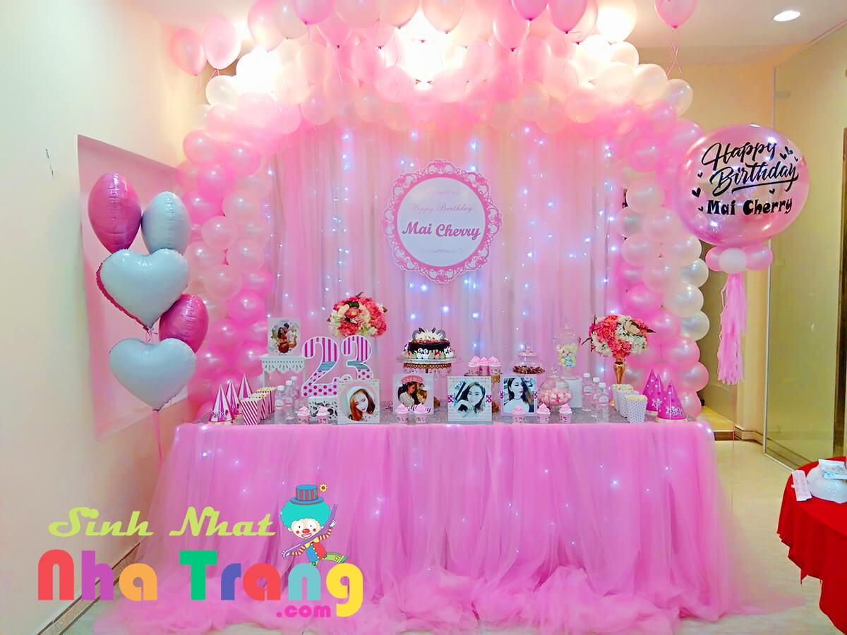 trang trí tiệc sinh nhật nha trang