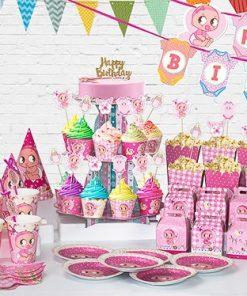 set phụ kiện trang trí bàn sinh nhật thôi nôi tại nha trang