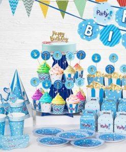 set phụ kiện trang trí sinh nhật thôi nôi bé trai tại nha trang