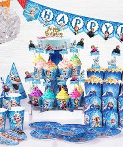 set phụ kiện trang trí sinh nhật thôi nôi chủ đề Elsa tại nha trang