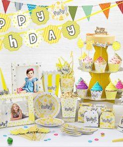 set phụ kiện trang trí sinh nhật thôi nôi tại nha trang