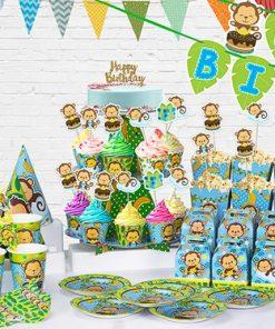 set phụ kiện trang trí sinh nhật bé trai tại nha trang