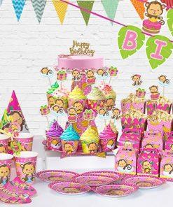 set phụ kiện trang trí sinh nhật thôi nôi bé gái tại nha trang