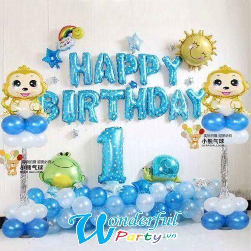 bong bóng trang trí sinh nhật bé trai tuổi khỉ tại nha trang
