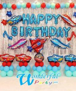 bong bóng trang trí sinh nhật chủ đề xe và máy bay tại nha trang