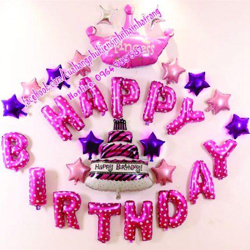 bong bóng trang trí sinh nhật màu hồng tại nha trang