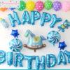 bong bóng trang trí sinh nhật bé trai tuổi ngựa tại nha trang