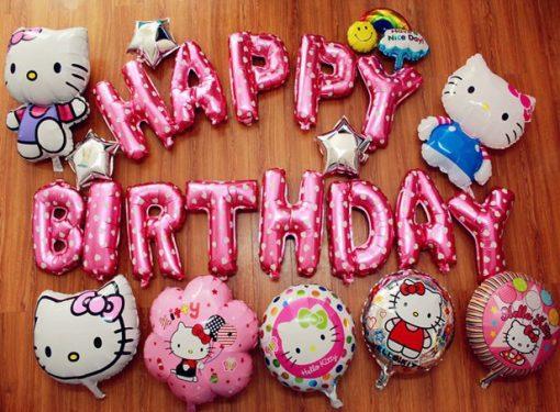 bong bóng tran trí sinh nhật chủ đề kitty taiij nha trang