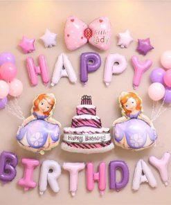 bong bóng tran trí sinh nhật bé gái tại nha trang
