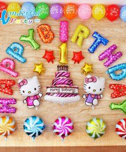 set bóng trang trí sinh nhật cho bé gái tại nha trang