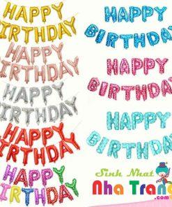 bong bóng chữ happy birthday