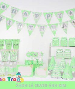 phụ kiện sinh nhật nah trang ép kim xanh lá