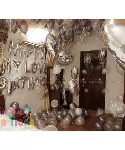 trang trí sinh nhật người lớn với bong bóng tại nhà nha trang