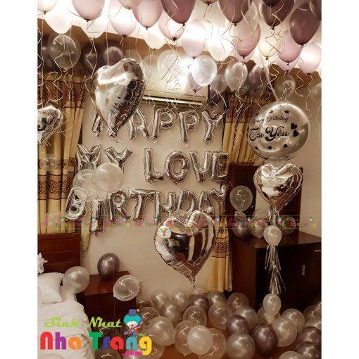 trang trí sinh nhật người lớn với bong bóng tại nha trang