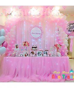 trang trí tiệc thôi nôi sinh nhật nha trang