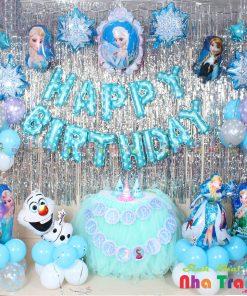 set bóng trang trí sinh nhật bé gái tại nha trang
