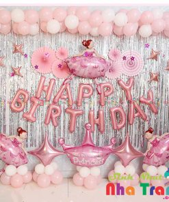 set bong bóng trang trí sinh nhật bé gái tại nha trang