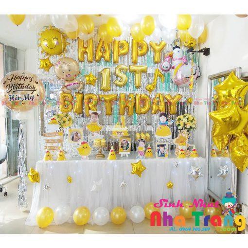 Trang trí sinh nhật thôi nôi Nha Trang