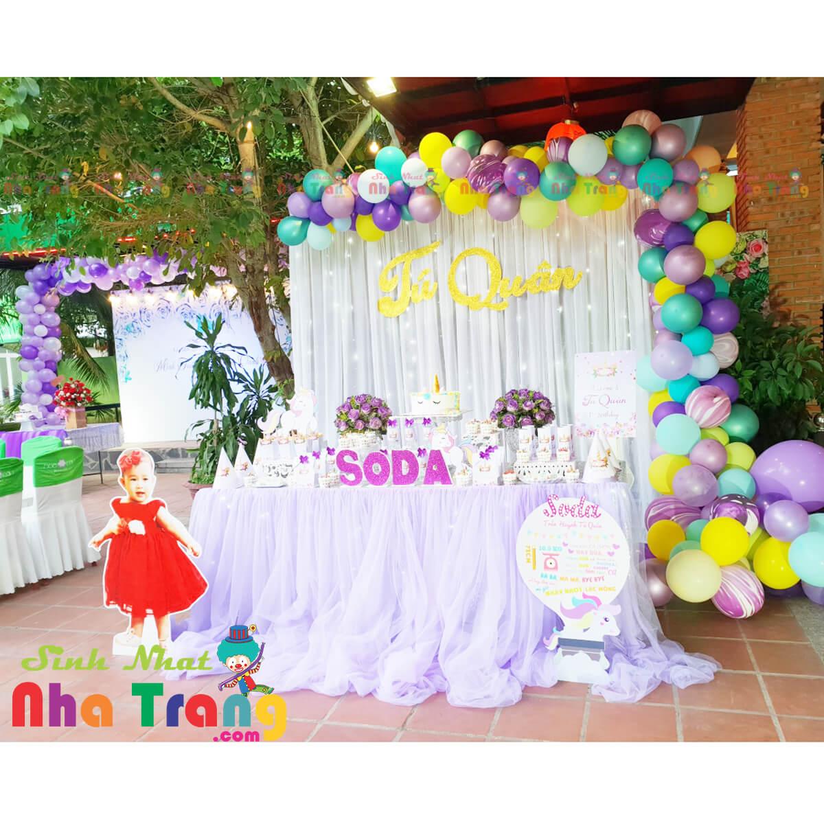 Trang trí tiệc sinh nhật cho bé tại Nha Trang