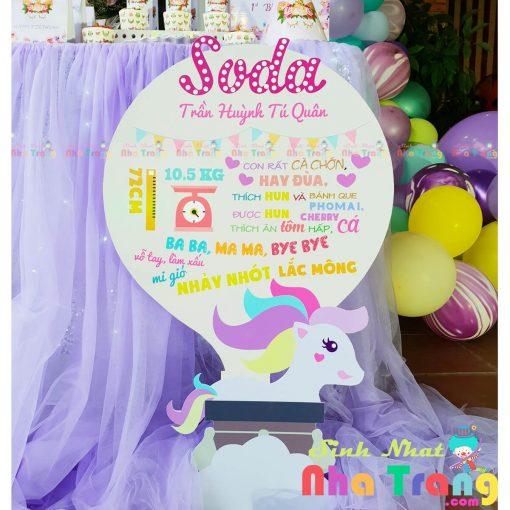 bảng thông tin phụ kiện sinh nhật Nha Trang